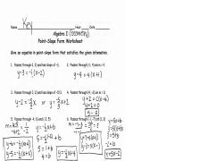 point slope form answers.pdf