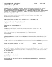 Real estate finance homework help