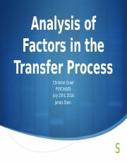 Analysis of Factors in the Transfer Process.pptx