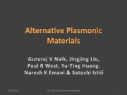 Lecture 17 - Alternative plasmonic materials (student presentation)