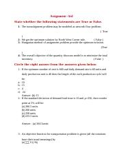 Assignment 3rd STAT (201) Key answers