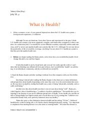 1 What is Health .docx