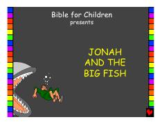 Jonah and the Big Fish English