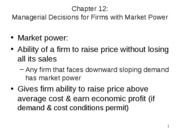chapter 12 markets with market power