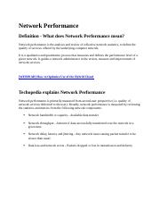 Network Performance.docx