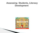 Assessing  Students - Literacy Development RED3309