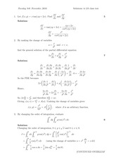 Answers to Linear Algebra Class Test 2010 (solutions)