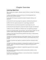 Chapter one notes and activities