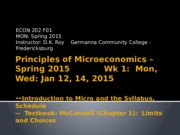 Notes Week 1 WED ECO 202 Principles of Microeconomics Spring 2015 (1).pptx