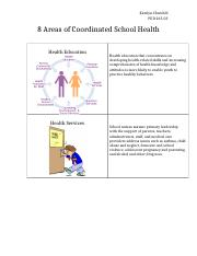 8 Areas of Coordinated School Health