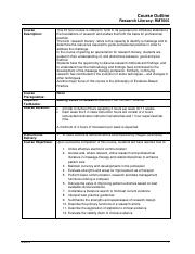 RMT605 v1-0 Course Outline 2014-0605