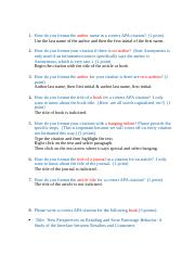 2011 apa citation worksheet 1 how do you format the author name in a correct apa citation 1. Black Bedroom Furniture Sets. Home Design Ideas