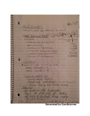 Mood disorder notes