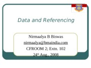 Lecture 5 Data and Referencing
