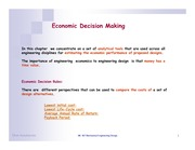 Lecture 8 Economic Decision Making