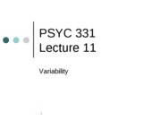 PSYC 331 Lecture 11 -- Variability