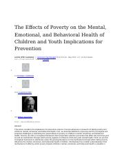 The Effects of Poverty on the Mental.docx
