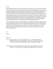 American Indian History wk 2 Forum response.docx