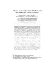Survey of Recent Results in FPGA Security