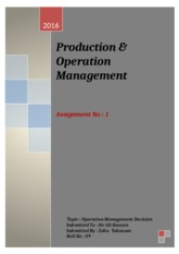 Productions and Operations
