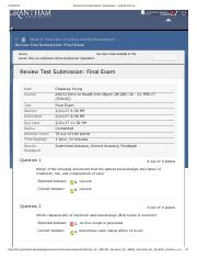 Review Test Submission_ Final Exam – AH112 Intro to .