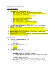 Biblical Worldview Final Study Guide (Edited).doc