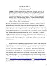 Ricardian model of international trade pdf