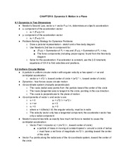 Physics CH.8Notes