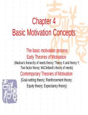 Chapter04 Basic Motivation Concepts