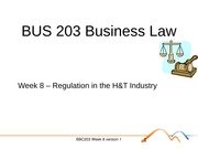 BUS 203 Business Law Topic 7 - Hospitality
