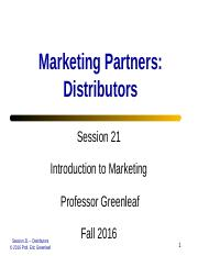 Session 21 - Marketing Partnerships - Distributor Relations.ppt