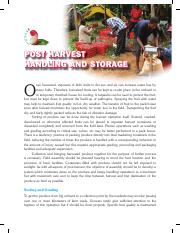 postharvest handling and storage