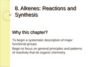 8 CH241 Alkenes, Reactions & Synthesis 8th Ed