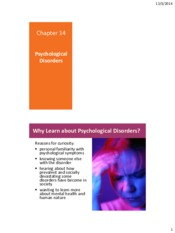 Chapter 14 Disorder powerpoint slides