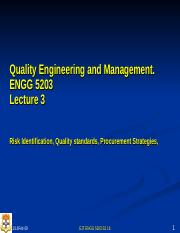 L03  ENGG 5203 S2 16 PPT Qualiity Management Risk, Quality and Procurement Management(1)