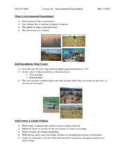 Lecture 19 – Environmental Degradation