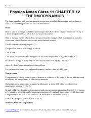 Physics Notes Class 11 CHAPTER 12 THERMODYNAMICS .pdf
