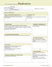 Olanzapine Pdf Active Learning Template Medication Student Name Amber Alley Medication Olanzapine Review Module Chapter Category Class Atypical Course Hero
