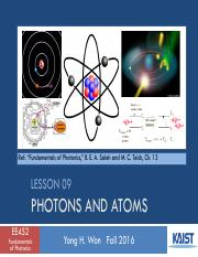 [Modified] Lesson_09_2016f_Photons and Atoms