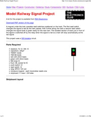 Model Railway Signal Project