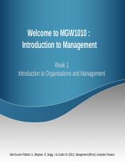 MGW1010_Week 1 Introduction to Organisations and Management %28Updated%290