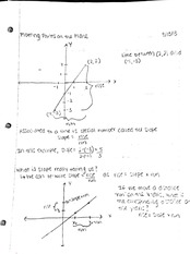Plotting points on a plane notes