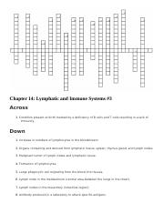 Chapter 14- Lymphatic and Immune Systems Crossword 3.docx