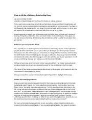 how to write a winning scholarship essay zone