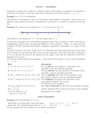 Lecture 7 Inequalities