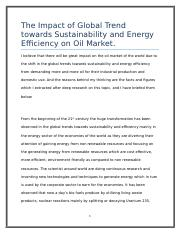 The Impact of Global Trend towards Sustainability and Energy Efficiency on Oil Market.docx