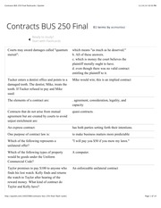 Contracts BUS 250 Final flashcards | Quizlet