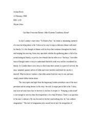 Response Paper - To Build a Fire (Final)