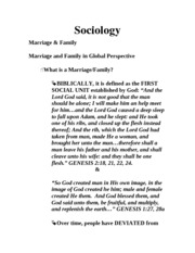 Sociology Marriage and Family Chapter - Support Center