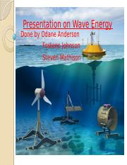 Presentation on Wave Energy.pptx